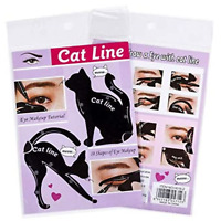 2 Pcs Cat Eyeliner Stencils Eye Shadow Cat Line Eyes Shaper Tool Makeup Template