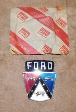 1950-56 Ford Mainline Customline Crestline Victoria NOS TRUNK EMBLEM NAME PLATE