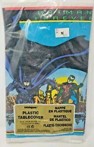"Vintage Batman Forever 1995 Plastic Tablecover Table Cover 54"" x 84"" DC Comics"