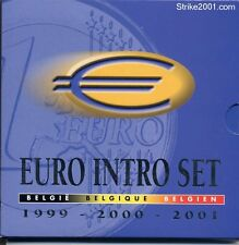 Euro BELGIO 1999 2000 2001 IN FOLDER UFFICIALE