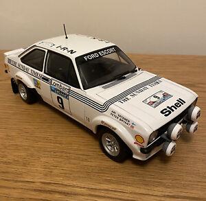 Used 1/18 Sunstar Mk2 Escort RS1800 Vatanen Sunday Times 77 RAC #4439 - Mint