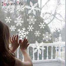 27pcs/lot White Snowflake Sticker Decoration Glass Window Kids Room Christmas Wa