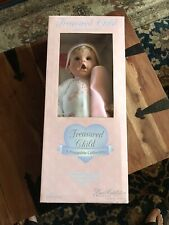 Lee Middleton Treasured Child Doll Girl in Pink Sweetheart Bear outfit