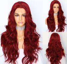 "AU 24"" Lace Front Wig Full Head Heat Safe Fiber Hair Bug Long Curly Wavy"