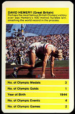 David hemery, grande-bretagne olympique all time greats top emporte sur carte (C257)