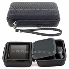 Black Hard Carry Case For Garmin Camper 770 LMT-D 760 With Accessory Storage
