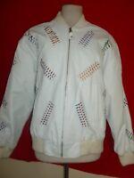Vintage Avanti Frio Embellished Leather Jacket Coat Womens M Medium