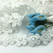 6 Yards White Flowers Lace decoration clothing crafts Wedding dress accesories