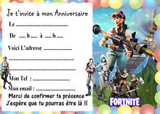 5 cartes invitation anniversaire  FORTNITE 04