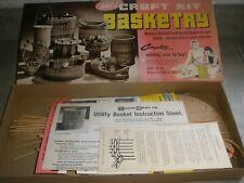 "Vintage 1966 New but opened Craft Kit Basketry #100 Utility Basket 8"" x 10"""