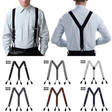 Mens Button Hole Suspenders Y-Back Adjustable Heavy Duty Design Suspender