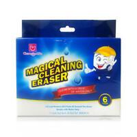 6 pack Super Cleaning Eraser Pad Dirt Stains Grime Wet Wipe Erase Magic Sponge