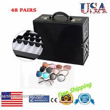 New 48 Grid Eye Glasses Case Box Holder Eyewear Sunglasses Display Storage