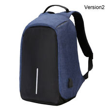 "Anti-Theft Waterproof Backpack External USB Charge Port 15"" Laptop School Bag"