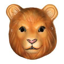 Child Lion Mask Plastic King Tiger Zoo Animal Halloween Costume Accessory