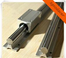 2X SBR25-1240mm FULLY SUPPORTED LINEAR RAIL SHAFT&4 SBR25UU Rounter Bearing