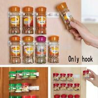 Sets Shop Kitchen Clip Spice Gripper Jar Rack Storage Door Cabinet Holder-W O9O6