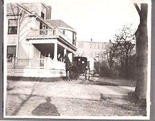 VINTAGE 1890'S DAN SHILLABERS HOUSE LYNN MASSACHUSETTS HORSE CARRIAGE OLD PHOTO