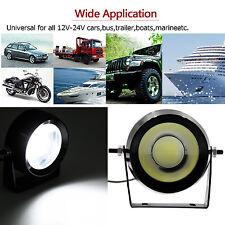 2X 18W Eagle Eye LED Daytime Running Light Head Round Lamp DRL Car auto Boat NEW