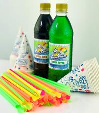 Conos de nieve Jarabe escoger y mezclar dos sabores paquete 500 Ml con conos y pajas Gratis