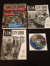 Sim City 2000 (PC, 1996) + Instruciton Manual + Strategy Guide