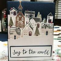 Cutout Village Cutting Dies Scrapbook House Album Photo Embossing DIY Card Gifts