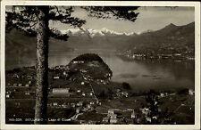 Bellagio Lago di Como Lombardei Italien s/w AK 1938 gelaufen Gesamtansicht Berge