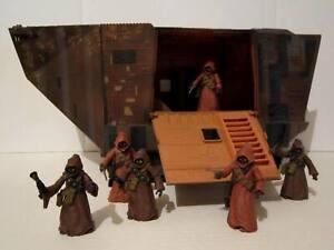"Star Wars 3.75"" OTC Saga Sandcrawler The Black Series #20 Jawas mint loose LOT"