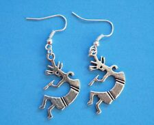 Southwest Earrings Silver Native Dancer KACHINA ZUNI Indian Silver Wires NEW!