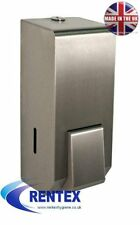 Stainless Steel Liquid Hand Soap Dispenser Heavy Duty Bulk Fill Key Lockable