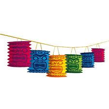 3.65m Tropical Hawaiian Tiki Island Totem Party Paper Lantern Garland Decoration