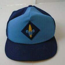 Vintage WEBELOS Blue Uniform Hat CUB SCOUTS Cap BSA SnapBack Made In USA M/L Vtg