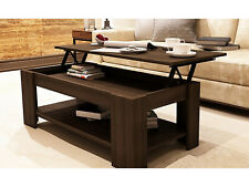 New Caspian Espresso Lift Top Coffee Table with Storage & Shelf