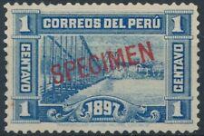 [37530] Peru 1897 Good stamp with SPECIMEN VF Mint no gum