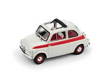 Fiat 500 1959 Tetto Apribile Sport 2a Serie Aperta Bianco / Rosso 1:43 Model