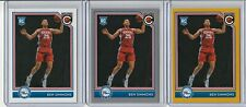 BEN SIMMONS 2016-17 COMPLETE RC LOT (3) GOLD SILVER PARALLEL INSERT BASE #4