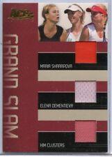 ACE GRAND SLAM MARIA SHARAPOVA, ELENA DEMENTIEVA & KIM CLIJSTERS WORN JERSEY