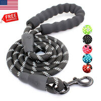 US Strong Dog Leash with Comfortable Padded Handle and Highly Reflective Threads
