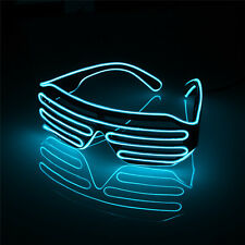 LED Glow Sun Glasses EL Wire Glasses Light Up Eyewear Shades for Nightclub Party