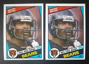 (2) Walter Payton #228 Chicago Bears 1984 Topps Football Lot