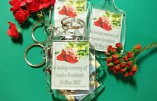 PERSONALISED IN MEMORY OF 2 SIDED 35 x 45 KEYRING GIFTS ANY TEXT/PHOTO/S