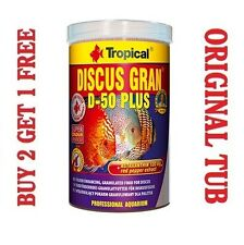 DISCUS GRAN D-50 PLUS Complete Food for Tropical Cichlids GENUINE TUB 250ml/95g'