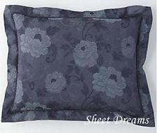 Charisma Amelia 100% Cotton Blue Floral Standard Shams Pair New