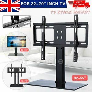 "Desk Top Monitor Table TV Stand Bracket Mount Plasma LCD LED 22-70"" Universal"