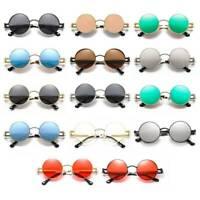 2020 Retro Women Men Vintage Metal Sunglasses Steampunk Round Glasses Eyewear