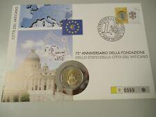 VATIKAN 2004 - Numisbrief mit 2 Euro in stgl. - 75 Jahre Vatikanstadt