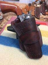 WESTERN HOLSTER STRAIGHT CUT HAND TOOLED COLT RUGER COWBOY ACTION