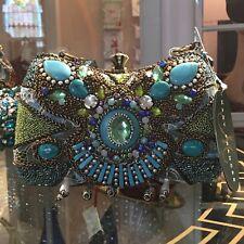NWT. Mary Frances Turquoise BYZANTINE EMPIRE beaded evening Bag - Gorgeous