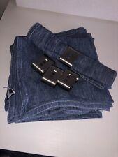 4 Denby Reflex Napkins And Napkin Rings