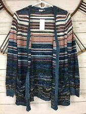6c32b247e5 Womens Boho Aztec Cardigan Sweater Lagenlook One Heart Juniors Size Small